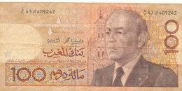 BILLET -  MAROC - BANK AL MAGHRIB  100 DIRHAMS - Maroc