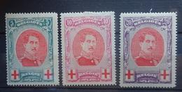 BELGIE 1915    Nr. 132 - 134     Spoor Van Scharnier *    CW 100,00 - 1914-1915 Red Cross