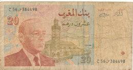 BILLET -   MAROC BANK AL MAGHRIB -20  DIRHAMS - Morocco