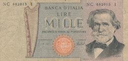 BILLET -  ITALIE - BANCA D'ITALIE LIRE    MILLE - 1000 Lire
