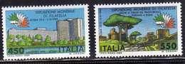 ITALIA REPUBBLICA ITALY REPUBLIC 1984 EXPO ESPOSIZIONE MONDIALE DI FILATELIA ITALIA 85 SERIE COMPLETA COMPLETE SET MNH - 6. 1946-.. Repubblica