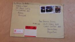 Enveloppe Du Venezuela Envoyée En Argentine Avec Des Timbres Modernes - Venezuela