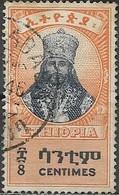ETHIOPIA 1942 Haile Selassie I In Coronation Robes - 8c - Black And Orange FU - Äthiopien