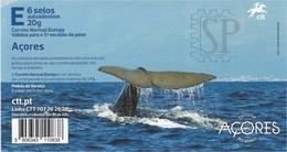 Portugal 2020 Açores Autoadesivos Turismo Fauna Cetaceans Baleia Whale Environment Conservation - Whales