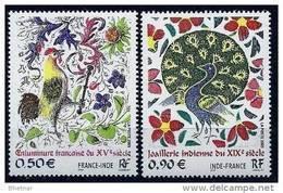 """FR YT 3629 & 3630 """" Emission Commune Avec L'Inde """" 2003 Neuf** - France"""