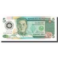 Billet, Philippines, 5 Piso, 1986, KM:180, NEUF - Filipinas