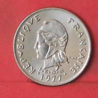 NEW CALDONIA 10 FRANCS 1977 -    KM# 11 - (Nº35600) - Nueva Caledonia