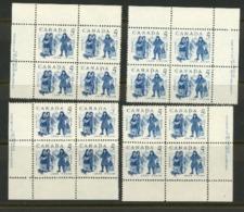 Canada 1962 MNH Plate Blocks - 1952-.... Règne D'Elizabeth II