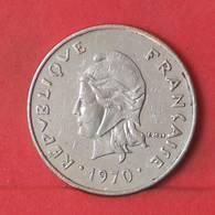 NEW CALDONIA 20 FRANCS 1970 -    KM# 6 - (Nº35604) - Nueva Caledonia