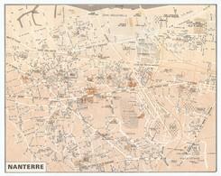 CARTE PLAN 1981 - NANTERRE HAUTS DE SEINE ( 92 ) - CARTOGRAPHIE OBERTHUR - Mapas Topográficas