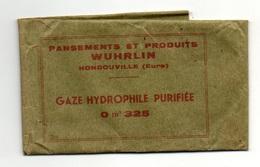 Pochette Papier Vide Pansements Et Produits Wuhrlin Hondouville Gaze Hydrophile Purifiée 0 M² 325 - Matériel Médical & Dentaire
