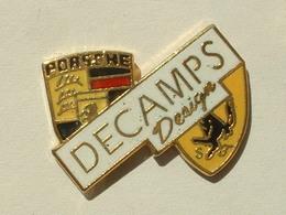 PIN'S DECAMPS DESIGN - LOGO PORSCHE / FERRARI - Porsche