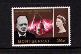 MONTSERRAT    1966    Churchill    24c  Brown      MNH - Montserrat