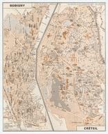 CARTE PLAN 1981 - BOBIGNY CRÉTEIL - CARTOGRAPHIE OBERTHUR - Mapas Topográficas