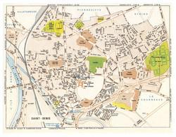 CARTE PLAN 1981 - SAINT DENIS SEINE SAINT DENIS ( 93 ) - CARTOGRAPHIE OBERTHUR - Mapas Topográficas