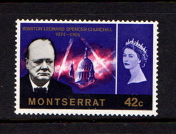MONTSERRAT    1966    Churchill    42c  Violet      MH - Montserrat