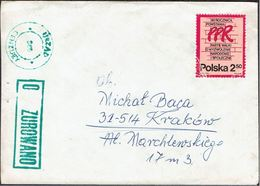 POLAND 1981 SOLIDARITY SOLIDARNOSC PERIOD MARTIAL LAW OCENZUROWANO CENSORED GREEN CACHETS CENSOR 389? - 1944-.... Republik