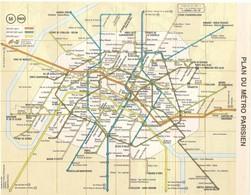 CARTE PLAN 1981 - PLAN DU MÉTRO PARISIEN MÉTRO RER RATP SNCF PARIS  - CARTOGRAPHIE OBERTHUR - Mapas Topográficas