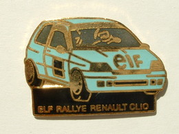 PIN'S ELF RALLYE  RENAULT CLIO - Renault