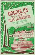 61 BAGNOLES DE L'ORNE .DEPLIANT TOURISTIQUE AVEC PLAN ET ENCART INFORMATIONS TARIFS HOTELS ET BAINS SAISON 1956- 57. . - Reiseprospekte