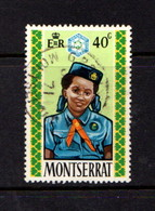 MONTSERRAT    1970    Girl  Guides    40c  Guide  And  Badge    USED - Montserrat