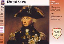 Admiral Nelson Unique Postcard Trading Card Rare Photo Ephemera - Vieux Papiers