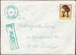 POLAND 1981 SOLIDARITY SOLIDARNOSC PERIOD MARTIAL LAW OCENZUROWANO CENSORED GREEN CENSOR 802 INVERTED NUMBER ERROR - 1944-.... Republik