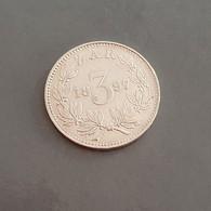 South Africa 1897  3 Pence ZAR  Johannes Paulus Kruger  Argent - Sud Africa