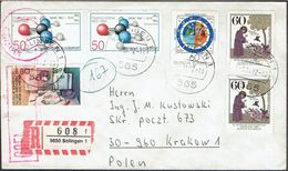 POLAND 1982 SOLIDARITY SOLIDARNOSC PERIOD MARTIAL LAW OCENZUROWANO CENSORED MAUVE CACHETS CENSOR 773 GERMANY TO KRAKOW - 1944-.... Republik