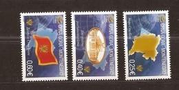 2005  100IIIA-03IIIA   YEAR  2006  MONTENEGRO  CRNA GORA  SIMBOLI FLAGS  NEVER HINGED INTERESSANTE - Montenegro