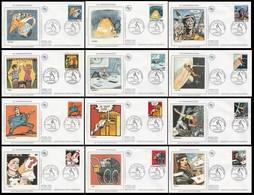 FDC - 12 Enveloppes ANGOULEME Le 29.01.1988 - TP N° 2503 à 2514 (la Communication Série Complète) (Lot PJ 41) - 1980-1989