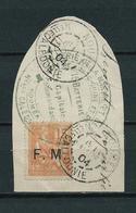 FRANCE 1901/04. Franchise Militaire N° 1 Sur Fragment  . Oblitérations Choisies . . - Franchise Militaire (timbres)