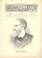 """""""Hommes Du Jour """" 4 Pages - Charles BULS, Bourgmestre De Bruxelles - Homme Politique Libéral Bruxelles 1837/Ixelles 1914 - Politique"""