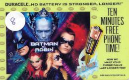 Télécarte * (8) BATMAN And Robin * Movie FILM- Cinema - Comics - Phonecard - Stripverhalen