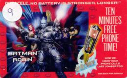 Télécarte * (9) BATMAN And Robin * Movie FILM- Cinema - Comics - Phonecard - Stripverhalen