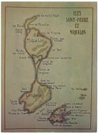 SAINT PIERRE ET MIQUELON Carte Des Iles - Saint-Pierre-et-Miquelon