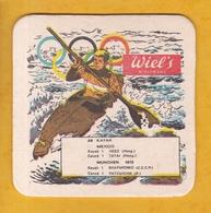 Sous-bock Cartonné - Bière - Belgique - Wielemans - Wiel's - Jeux Olympiques JO München 1972 N°28 Kayak - Bierviltjes