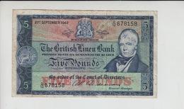 AB475 The British Linen Bank £5 Note 21st September 1962 #D/12 678158. Free UK P+p! - [ 3] Escocia