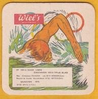 Sous-bock Cartonné - Bière - Belgique - Wielemans - Wiel's - Jeux Olympiques JO München 1972 N°27 100 M Nage Libre - Bierviltjes