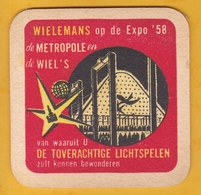 Sous-bock Cartonné - Bière - Belgique - Wielemans - Wiel's - Expo 58 - Bierdeckel