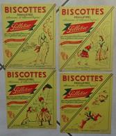 Lot De 4 Buvards Biscottes Pelletier - Biscottes
