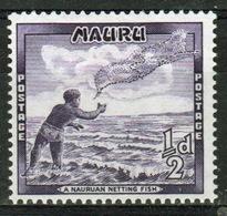 Nauru Single Half Penny Stamp From 1954 Definitive Set. - Nauru