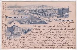 Zürich - Baur-au-Lac - Vorläuferlitho - Mix-Frankatur Mit UPU - 1900       (00521) - ZH Zurich