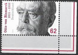 2015 Deutschland Allem. Fed.  Mi. 3145 **MNH  EUR 200. Geburtstag Von Otto Von Bismarck. - [7] Repubblica Federale