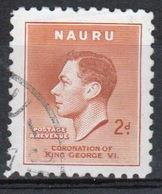 Nauru Single 2d Stamp From 1937 Coronation Set. - Nauru