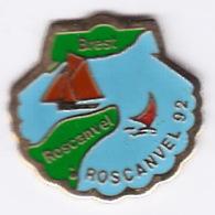 Pin's Bateaux Brest Roscanvel Roscanvel 92 - Bateaux