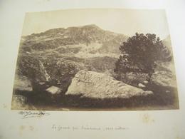 ATTENTION Photo Originale Dédicacée M.Gourdon - Le Grand Pic De Sandrous Sandrons 2699 Mètres - 1884 - SUP - (Ph 64) - Non Classificati