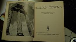 ROMAN TOWNS  (Rome-Pompei-Herculaneum-Ostia Etc) Agustin Publisher 1944 - Architecture