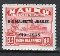 Nauru Single 1½d Stamp To Celebrate The 1935 Silver Jubilee. - Nauru