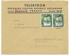 Enveloppe Generalgouvernement  - Krakau 1941 - Gobierno General